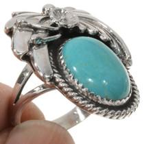 Kingman Turquoise Ladies Ring 27626