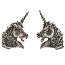 Sterling Unicorn Post Stud Earrings 22803