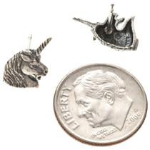 Sterling Unicorn Charm Earrings 22803