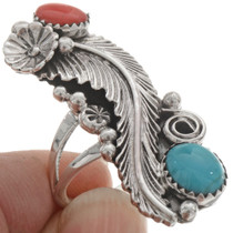 Turquoise Coral southwest Ring 24676