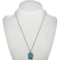 Navajo Single Stone Turquoise Pendant 26676