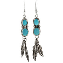 Feather Earrings French Hook Style