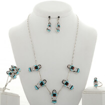 Zuni Maiden Inlaid Jewelry Set 28032