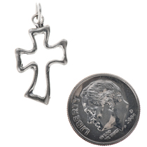 Sterling Silver Cross Charm Bracelet Pendant Necklace