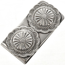 Native American Silver Concho Money Clip 28982