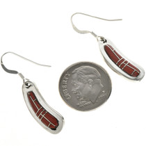Southwest Coral French Hook Earrings 18142
