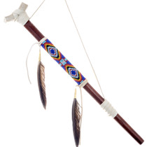 Beaded Buckskin Peace Pipe 24568