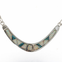 Opal Turquoise Zuni Style Necklace 15155