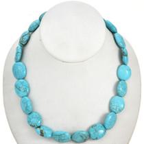 Kingman Blue Turquoise Magnesite Beads 16mm x 19mm 16 inch Strand 5112