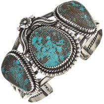 Turquoise Antiqued Silver Cuff Bracelet 28627