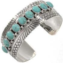 Kingman Turquoise Silver Cuff 27788