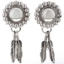 Concho Feather Earrings 16357