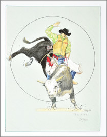 Limited Edition Navajo Pen and Pencil Rodeo Print by Frankie C Nez