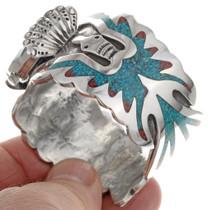 Navajo Inlaid Watch Bracelet 23875