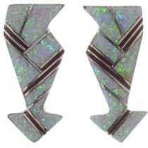 Opal EarrinArrow Opal Gemstone Silver Earrings