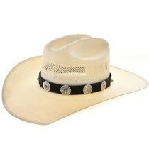 Turquoise Sterling Concho Hat Band 25896