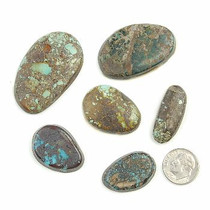 BOULDER & PICTURE MOUNTAIN Turquoise Cabochons Various Shapes  240 Carats