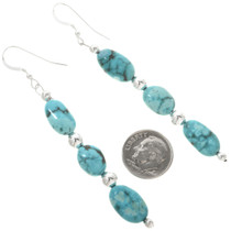 Turquoise Silver Dangle Earrings 23651