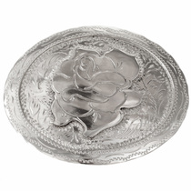 Silver Rose Belt Buckle 0052
