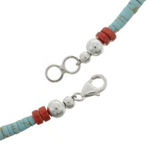 Navajo Turquoise Coral Necklace 22533