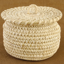 Genuine Papago Tohono O'odham Wedding Basket with Lid