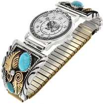 Turquoise Gold Watch 22573
