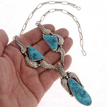 Turquoise Silver Necklace 21643