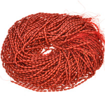 4mm by 8mm Coral Beads 16 inch Long Strand BEST QUALITY