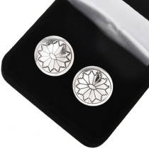 Sterling Concho Native American Cuff Links 20856