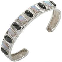 Opal Jet Silver Southwest Bracelet 28343