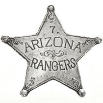 Arizona Rangers Western Star Badge 29003