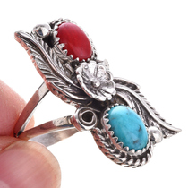 Kingman Turquoise Silver Ladies Ring 28532