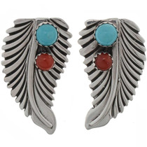 Natural Turquoise Coral Earrings 26836