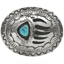 Navajo Bear Paw Belt Buckle 24734
