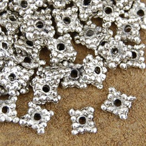 1 Ounce Set of 137 1mm x 5mm Silver Bali Bead Spacers 0106