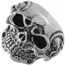 Tribal Skull Mens Ring 26024