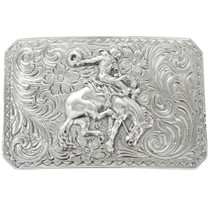 Navajo Fancy Silver Belt Buckle 26499