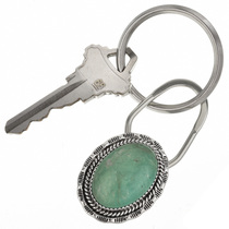 Native American Turquoise Silver Key Ring 27500