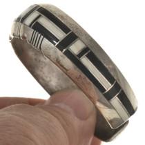 Inlaid Navajo Shell Jet Cuff Bracelet 29470