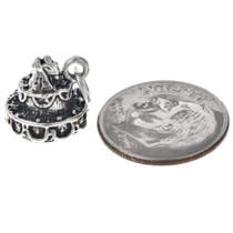 Sterling Silver Wedding Cake Charm Bracelet Charm Pendant Necklace