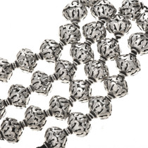 12mm x 14mm Silver Findings Filigree Bali Beads 8-1/2 inch Long Strand 0089