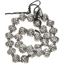 12mm x 14mm Silver Findings Filigree Bali Beads 8-1/2 inch Long Strand 0089