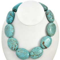 Large Turquoise Magnesite Beads 30mm x 40mm 16 inch Strand 5016