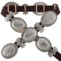 Hammered Silver Navajo Concho Belt 24748