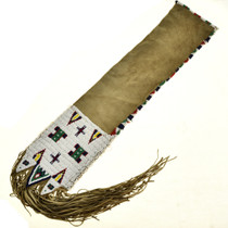 Plains Indian Beaded Pipe Bag with Fringe 29290