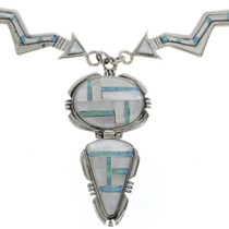 Inlaid Sterling Arrow Necklace 27947