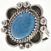 Blue Denim Lapis Ladies Silver Ring