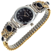 Gold Onyx Ladies Watch 24351