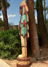 Wooden Life Size Indian 24019