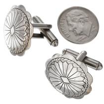 Western Silver Concho Cuff Links 20855